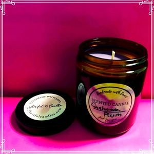 Cashmere Plum Scented Soy Candle 8 oz